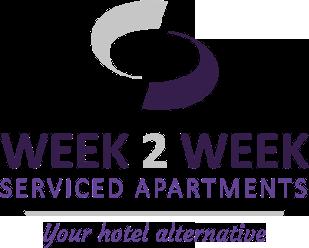 Pie de página del logotipo de Week2Week Apartments